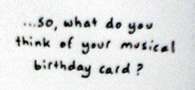 Inside of cow birthday card