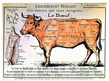 Le Boeuf giclee poster print