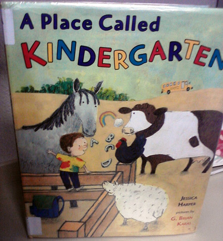A place called kindergarten, with a cow
