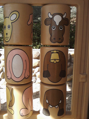 See a cow every day at the playground