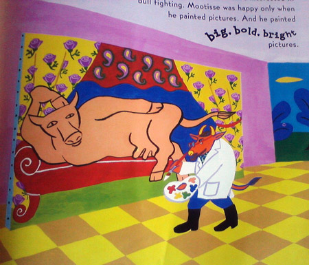 Mootisse the cow - Matisse painting