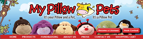 Cow on the My Pillow Pets website