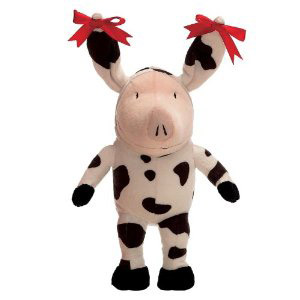 Official Olivia the pig in a cow costume