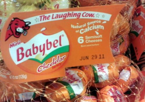 Babybel cheddar cheese - fromage Babybel au cheddar
