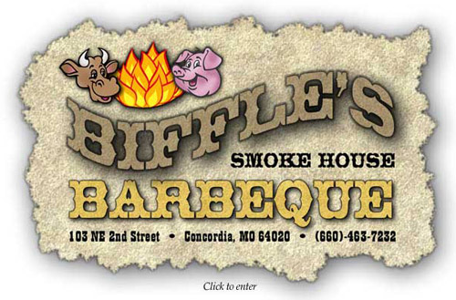 Biffle's Smokehouse BBQ - Happy cow and happy pig