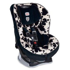 Britax Marathon convertible car seat in Cowmooflage pattern