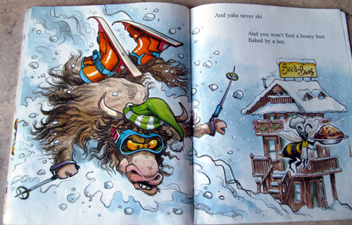 Skiing Yak in Laura Numeroff's Dogs don't wear sneakers