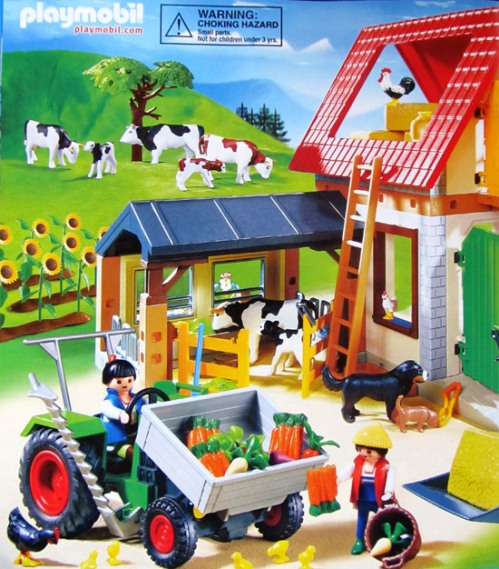 Playmobil animal farm, with cows