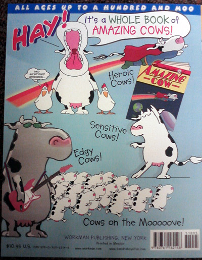 Sandra Boynton Amazing Cows book, back cover