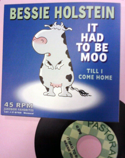 Sandra Boynton Amazing Cows book - Bessie Holstein record