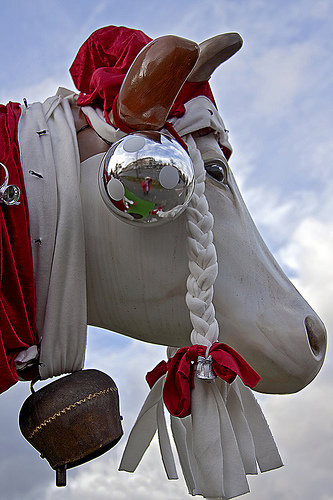Christmas cow in Spain