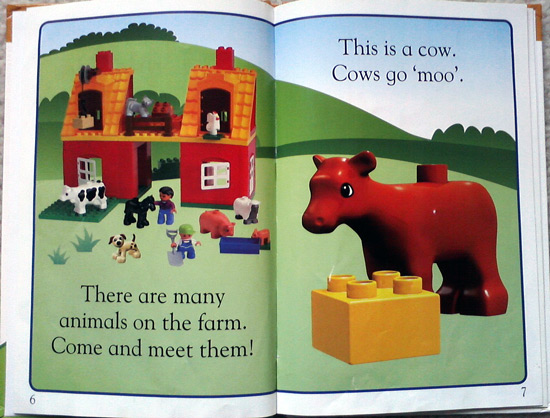 Learn about cows with this Lego book