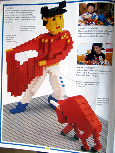 Lego bull fighter and Lego bull