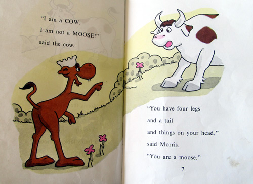 Morris the moose thinks the cow is a moose