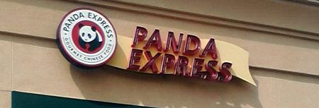 Panda Express logo on storefront