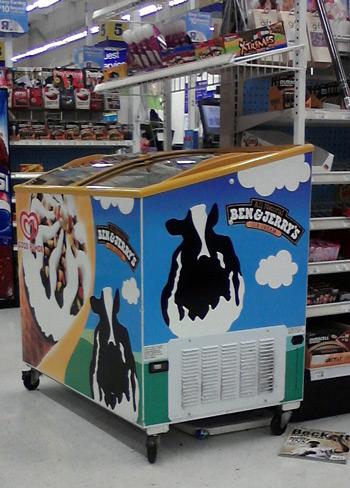 Ben & Jerry ice-cream bar display