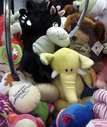 Cow stuck in claw machine at ToysRUs