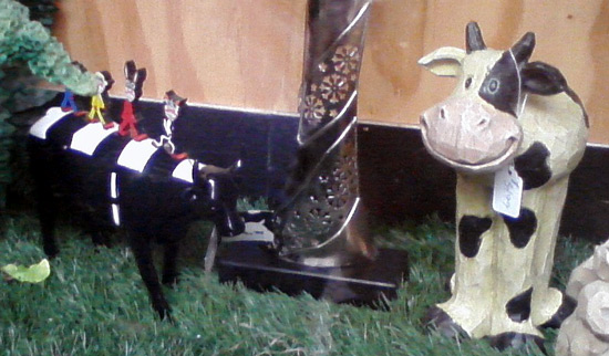 Torn Britches now has two cows in its window display