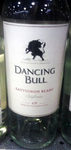 Dancing Bull wine bottle - Sauvignon blanc