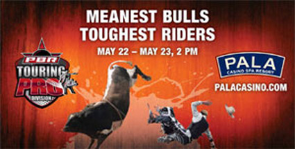 Pala Casino Bull Rodeo billboard ad