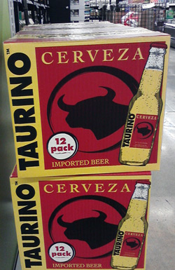 Taurino beer with bull head