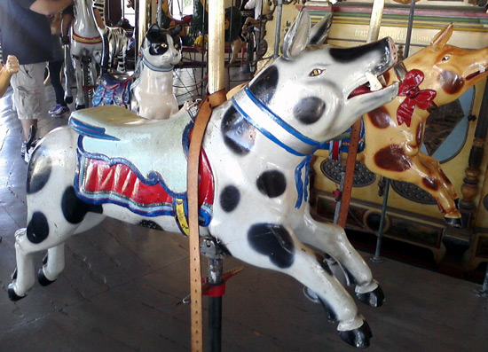 San Diego Balboa Park Carousel - pig with cow spots