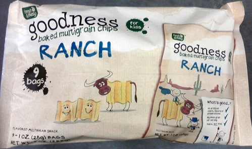 Fresh & Easy ranch multigrain chips with cows