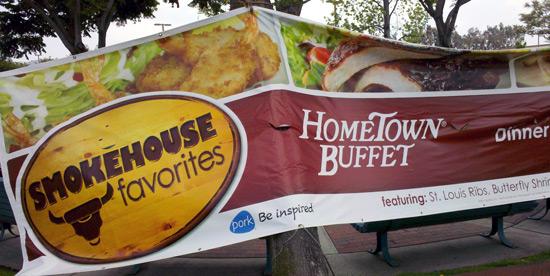 Hometown Buffet BBQ cow logo