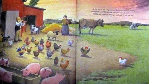 Louise - the adventures of a chicken - farm and cows