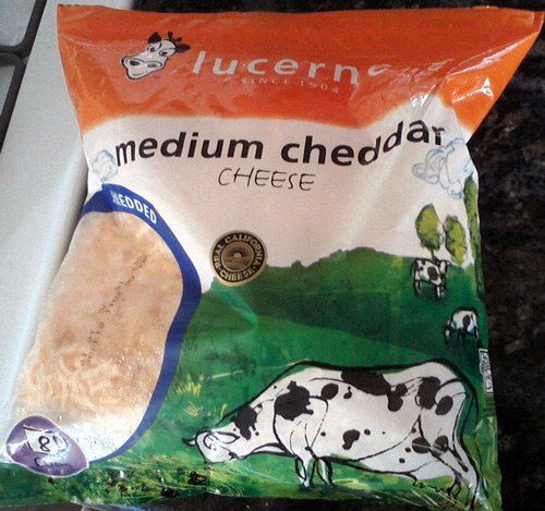 Lucerne cheddar cheese - more grazing cows