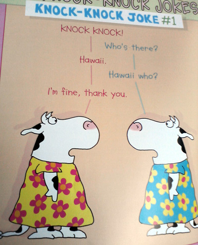 Amazing cows by Sandra Boynton - knock knock joke