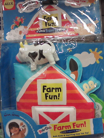 Bath book - Farm fun with squirting cow