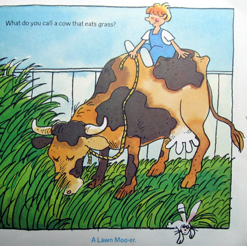 Cow joke - the lawn mooer
