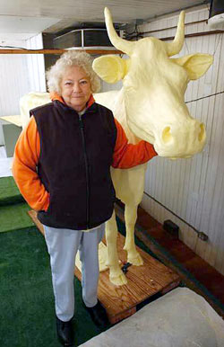 Norma Lyon, the butter cow lady