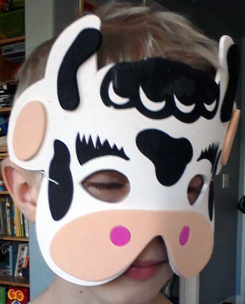 Party mask - cow mask