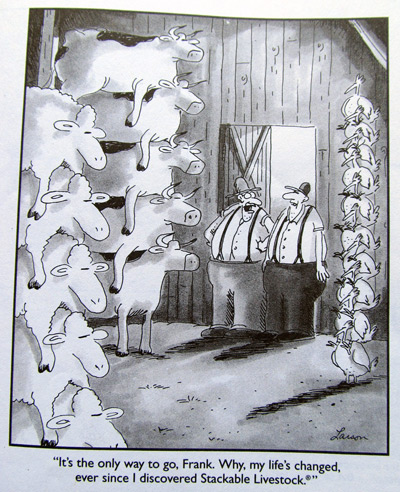 Use of cows in Gary Larson's Far Side books
