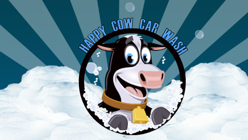 It's the Happy Cow Car Wash!