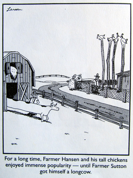 Another Gary Larson's cow joke in The Far Side