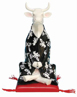 Meditating cow - cow parade
