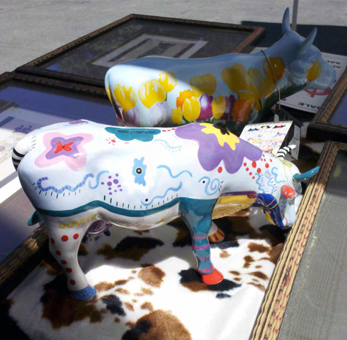Painted cows at the trading post store