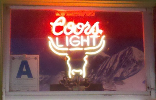 Coors Light logo with longhorn bull
