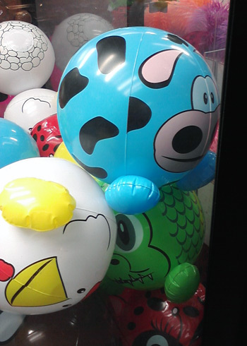 Cow balloon in claw machine