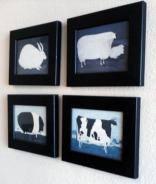 Cows, pigs, sheep and rabbits at the dentist's office
