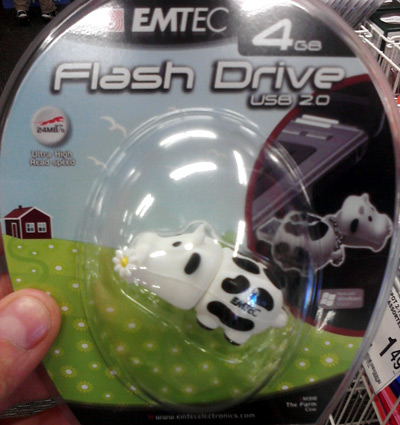 Cow USB drive at Office Depot