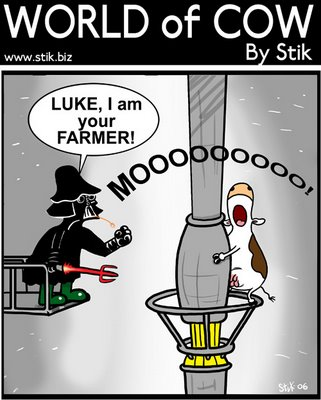 Funny cow cartoon - Star Wars
