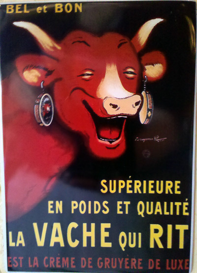 La Vache Qui Rit old ad at Mimi's Cafe