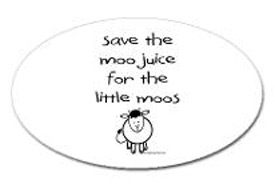 Save the moo juice