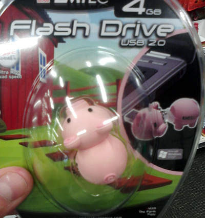 Pig USB drive at Office Depot