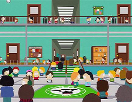 South Park school cow mascot logo