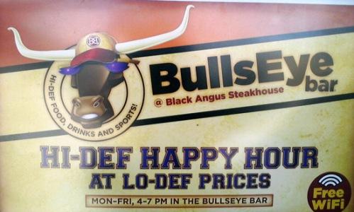 Black Angus' Bullseye Bar promotion